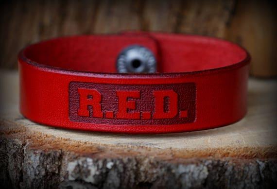Ryan Weaver Professional Bull Riders R.E.D. Leather Strap