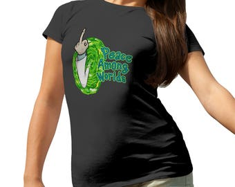 Rick And Morty Peace Among Worlds  T-Shirt for Ladies Cool Gift