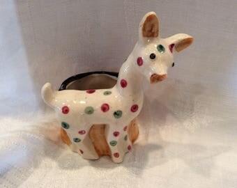 Vintage ceramic giraffe match holder, occupied Japan