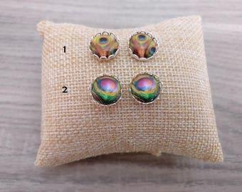Earings cabochon, yoga earrings