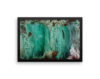 Framed Print: Behind the Waterfall; multiple sizes