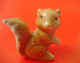 Vintage,Hungarian porcelain tiny SQUIRREL ,animal figurine
