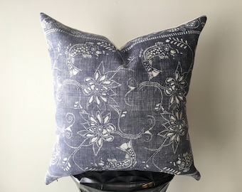 Vintage Chinese Batik Cover for 20x20 Inch Throw Pillow