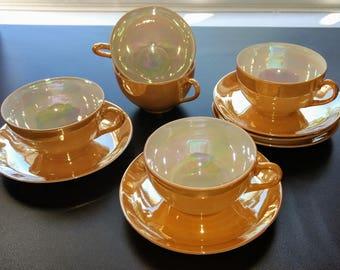 Vintage Japanese Lusterware Tea Set