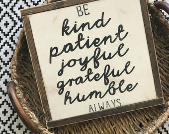 Be Kind | Be Kind Sign | Be Kind Always | Always Stay Humble & Kind | Classroom Sign | Teacher Sign | Kindness Matters