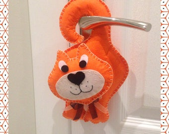 Door hanger/Cat door hanger/Kids room/Gift for kids/New baby gift/Baby shower gift