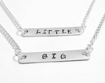 Big Little Sorority, Big Little Gift, Sorority Sister, Big Sister, Little Sister, Sister Necklaces, Hand Stamped Necklaces, Greek Life