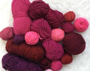 Deluxe Yarn sampler- Curated pink yarn bundle