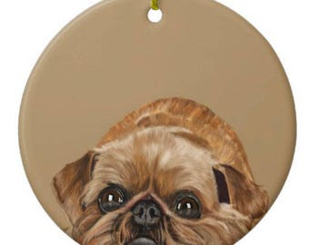 Brussels Griffon Ornament Customizable With Name!