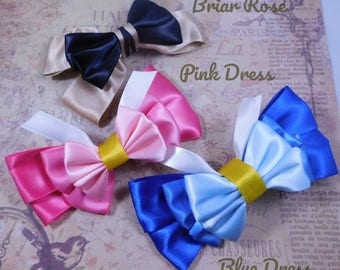 Briar Rose and Aurora's Pink and Blue Bow