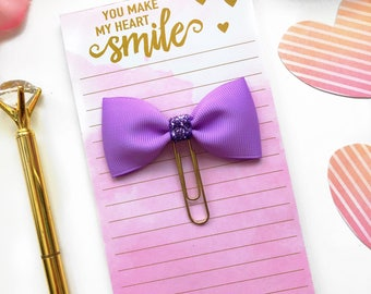 Lilac Bow Paperclip / Planner Paperclip
