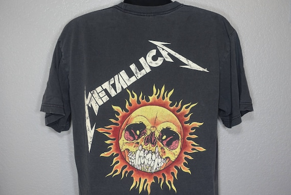 1994 RARE Metallica Pushead - '94 Original Giant Double-Sided Metal Vintage Concert T-Shirt