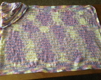 Light Pastels Hooded Baby Blanket