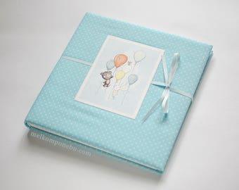 Birthday Guest Book Air Balloon Child Childhood Custom FREE SHIPPING