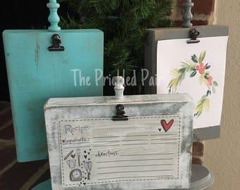 Pedestal Frame or Recipe Card Holder