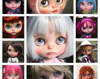 Commission request. Initial deposit. OOAK art Blythe doll.