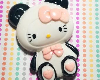 75mm Hello Kitty cabochon decoden flatback resin panda bear cartoon character embellishment jewelry scrapbook hair accessories phone case