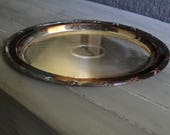 Oval Silver Plated Platter