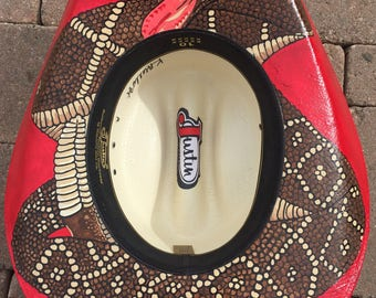 Custom Hand Painted Cowgirl Hat or Cowboy Hat