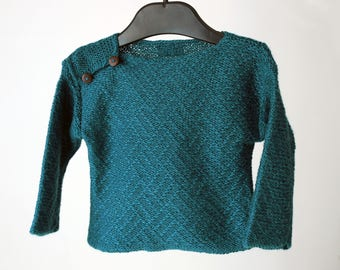 Baby boy turquoise-green sweater