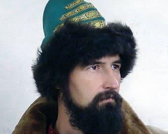 A man's warm hat; Old Russian hat; Traditional Russian hat; Streletskaya warm hat;