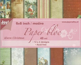 48 paper 15 x 15 cm CRAFTS WARM CHRISTMAS JOY