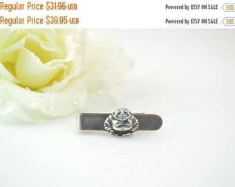 BIG SALE On Sale Smiling Buddha Tie Bar Sterling Silver 10.6g