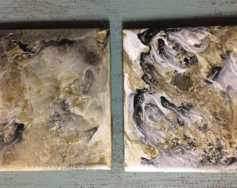 Hand Painted Tile Coasters (set of two)