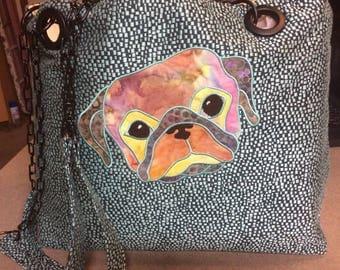 Pug Tote. Handmade