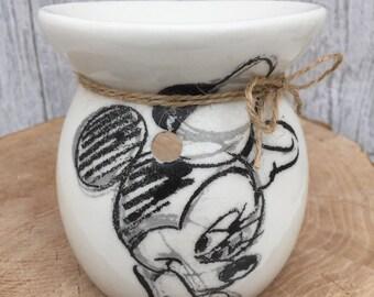 Handmade Disney Minnie Mouse Monochrome Wax Burner- Oil Burner- Wax Melts- Scented Candles