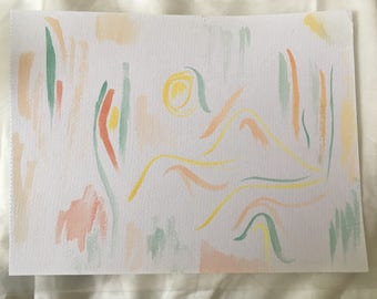 Abstract watercolour painting