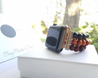 Apple Watch Band 38mm, Apple Watch Band 42mm, Tibetan Wood Band