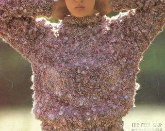 knitting pattern, women's, ladies, stylish, cosy, sweater, jumper, sizes 32 to 40 in, pdf, digital download, instant download