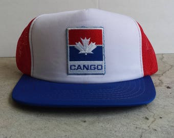 Vintage 1990's CANGO Gas Station Trucker Hat / Snapback / Cheese grater / Trucker Cap (OSFA) Like New