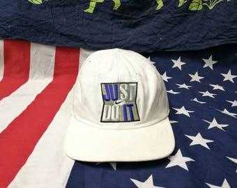 vintage nike swoosh just do it snapback cap hat