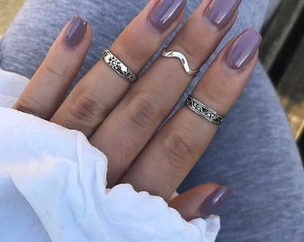 Sterling silver genuine 925 adjustable stackable toe/midi ring boho / gift for her / gift for women