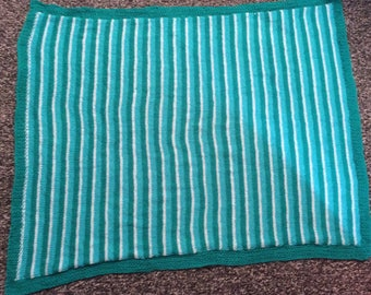 Green Hand Knit Blanket Baby/Child