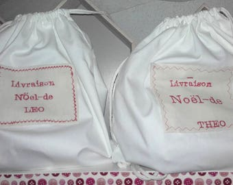 BAG POUCH FOR CHRISTMAS EMBROIDERY PERSONALIZED