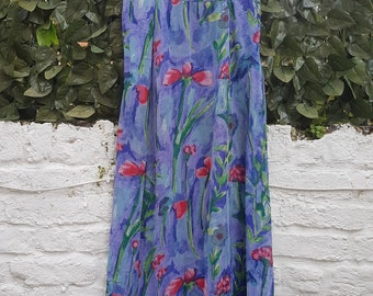 Vintage Monsoon Maxi Floral Skirt