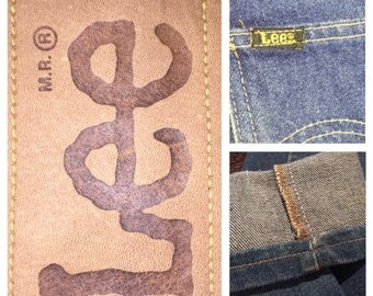 """70's LEE jeans, 26.5"""" high waisted,wedgie, straight fit,"""