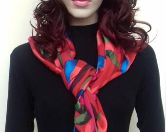 Vintage silky scarf