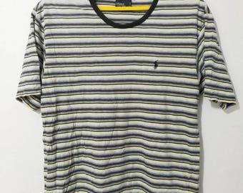 Rare polo Ralph Lauren small pony stripes t-shirt M size