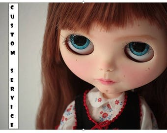 CUSTOM SERVICE for your Blythe doll or Icy doll , OOAK Blythe custom doll commission service,