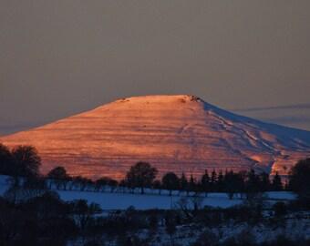 Sugar Loaf Snowy Sunset
