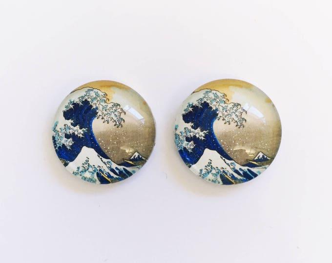 The 'Japanese Wallpaper' Glass Earring Studs