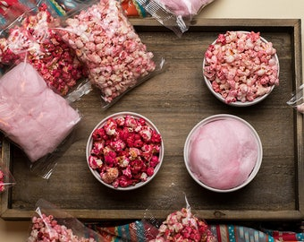 FREE SHIPPING - Gourmet Popcorn & Cotton Candy Favors - Great for Back to School, Baby Shower, Gender Reveal, Wedding, Birthday Gift!