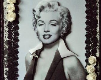 Framework table 3D frame canvas, 3D Divine Marilyn,