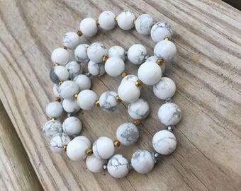 Marble Beaded Bracelet Set