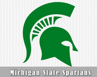 Michigan State Spartans SVG Logo Vector Cut File Silhouette Studio Cameo Cricut Design Template Stencil Vinyl Decal Tshirt Transfer Iron on