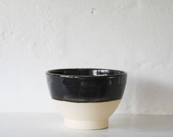 Black Bowl, Soup Bowl, Cereal Bowl, Thrown Bowl, Handmade, Unique Gift, Housewarming Gift, Contemporary, Stylish, Home Decor, Made By Hand